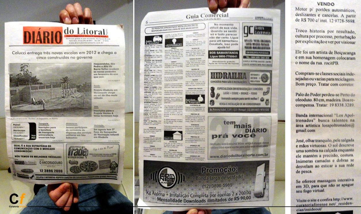 Intervención en los Anuncios Clasificados del Diario do Litoral