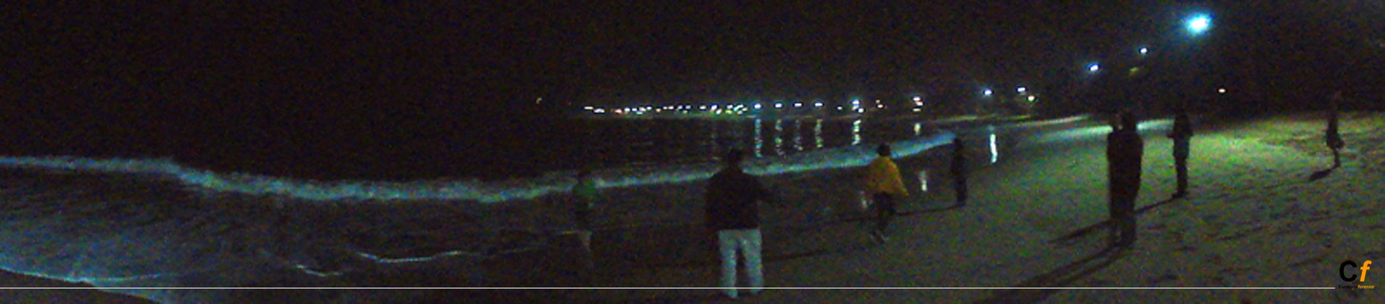 vista nocturna de la praia de Boiçucanga, Sao Paulo, Brasil