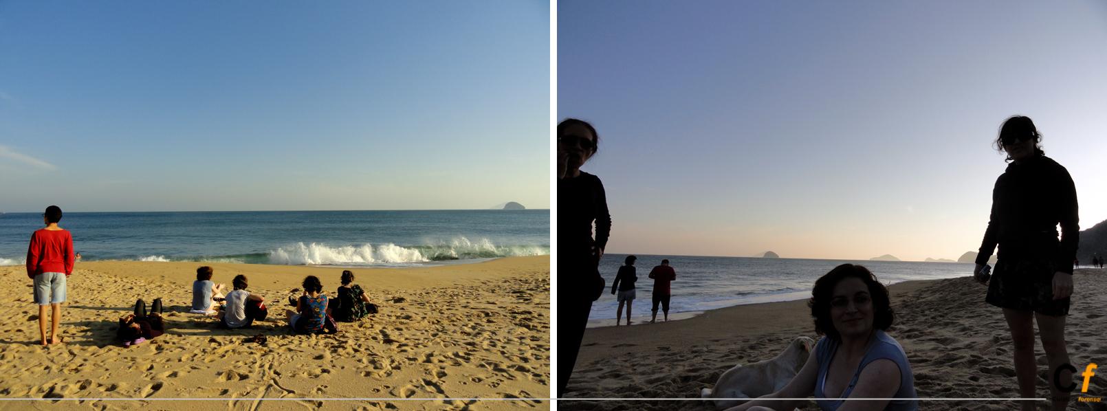 tarde en la praia de Boiçucanga, Sao Paulo, Brasil