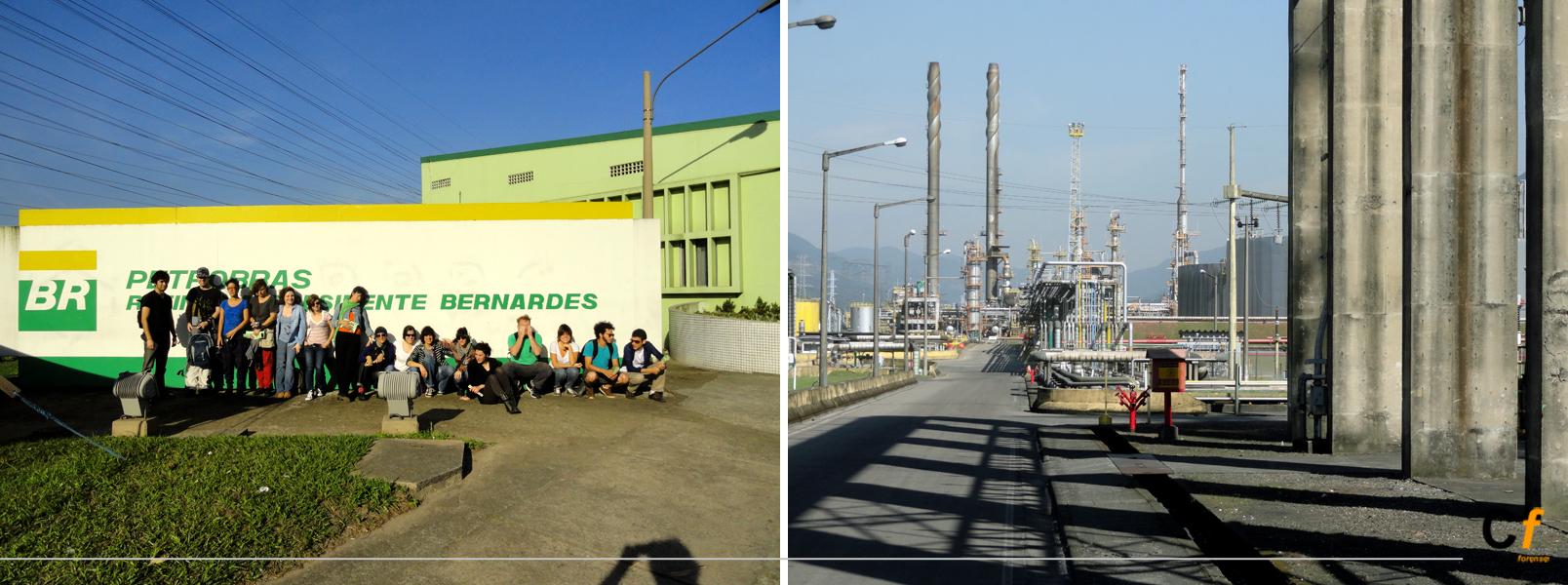 visita a la refinería de PETROBRAS, Cubatao, Sao Paulo, Brasil